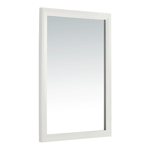 Urban Loft 30-inch L x 22-inch W Wall Mirror in White Lacquer