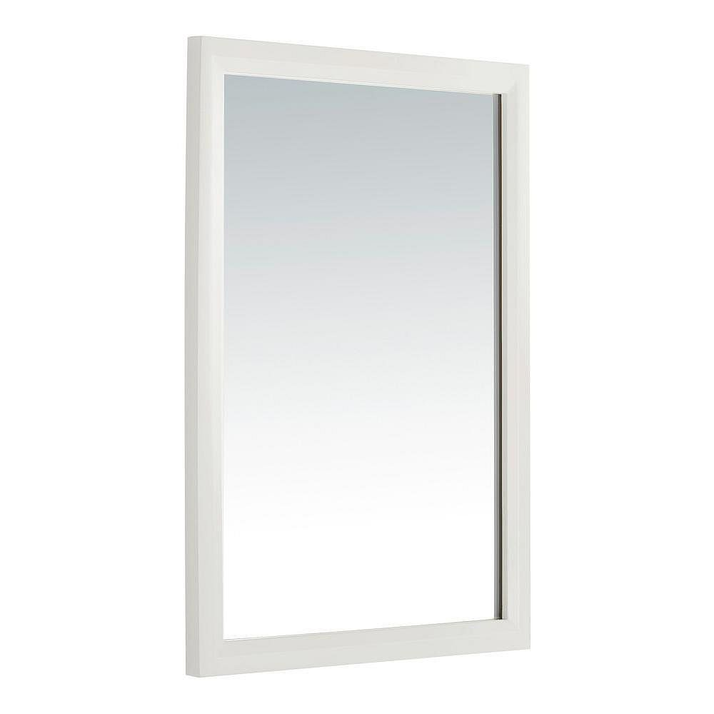 Simpli Home Urban Loft 30-inch L x 22-inch W Wall Mirror in White Lacquer