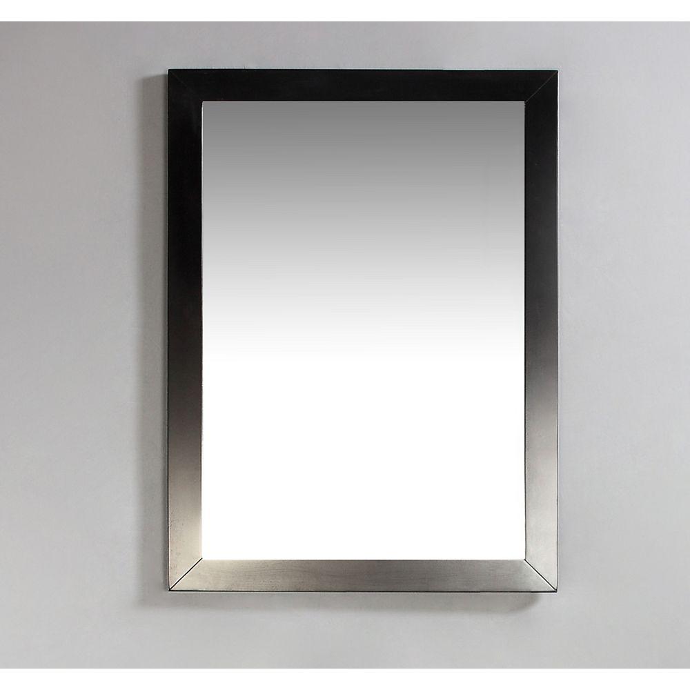 Simpli Home Burnaby 20 Inch x 30 Inch Espresso Brown Bath Vanity Décor Mirror