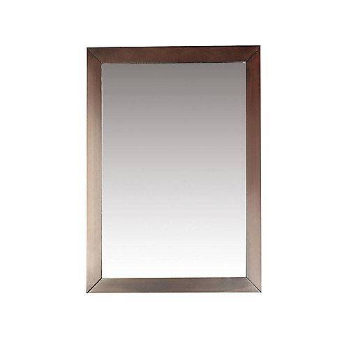 Miroir décoratif de meuble-lavabo Burnaby, 20 po x 30 po, brun noyer