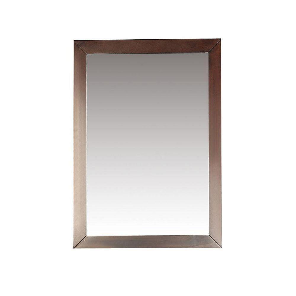 Simpli Home Burnaby 20-inch x 30-inch Bath Vanity Décor Mirror in Walnut Brown