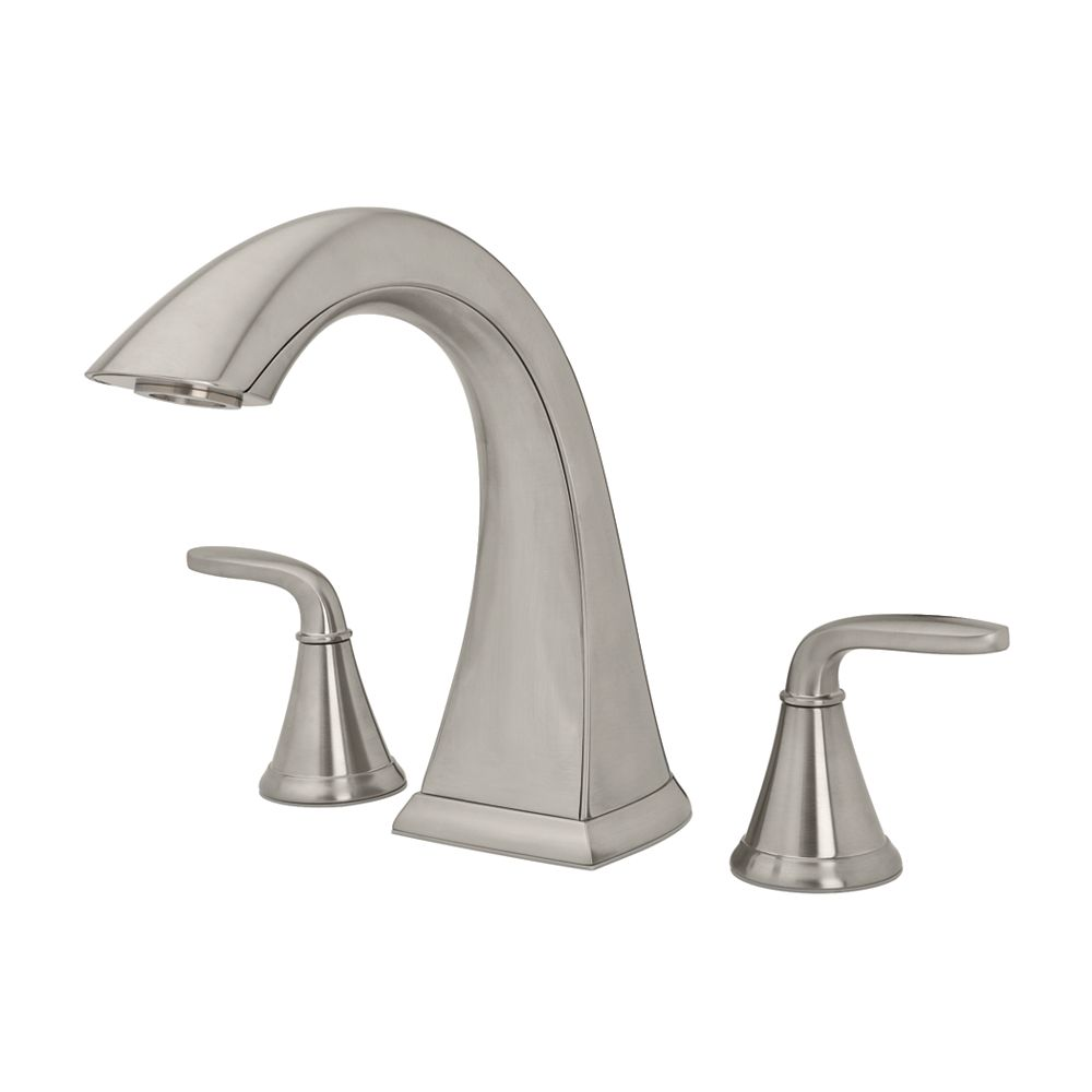 Pfister Pasadena 2-Handle Roman Bath Faucet in Brushed Nickel Finish