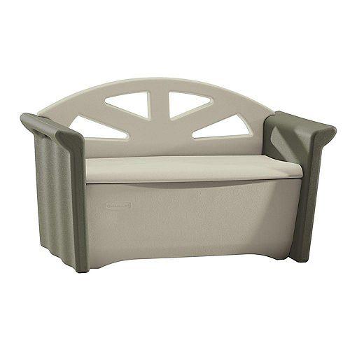 Banc de rangement pour patio