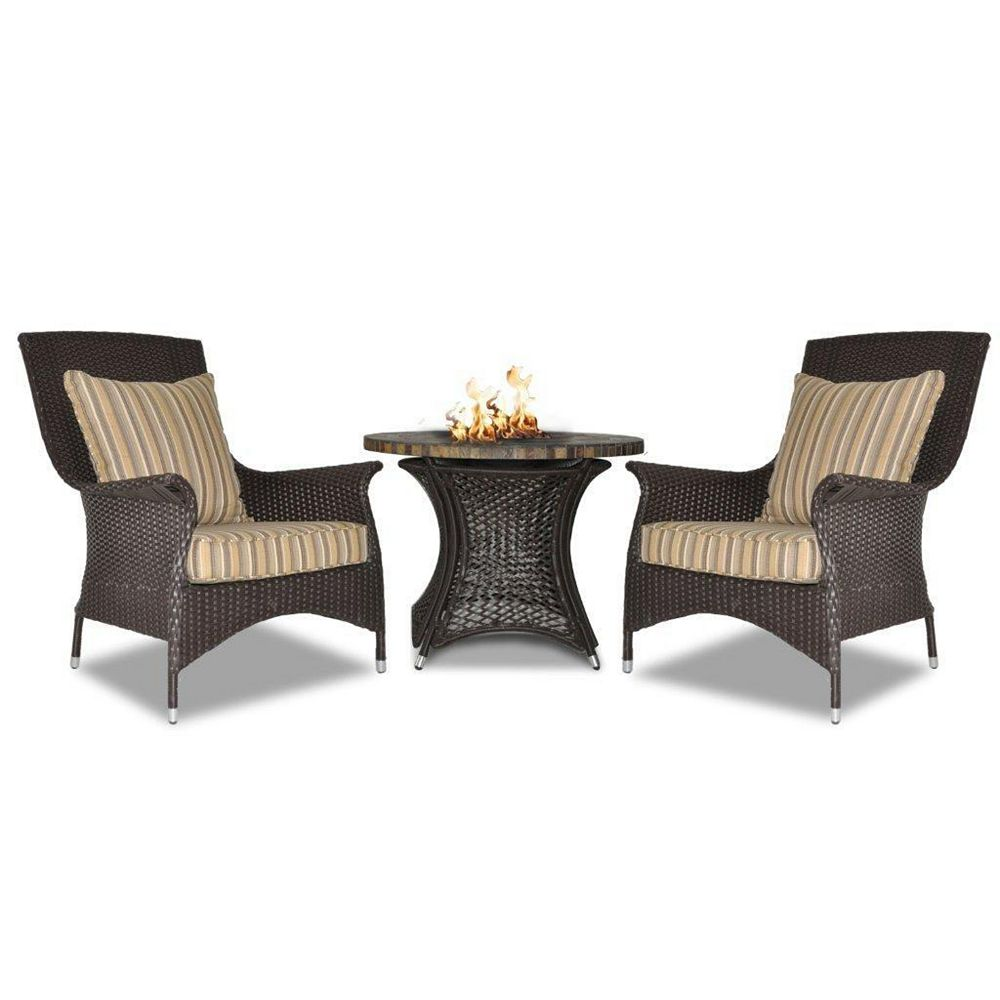 JR Home Collection Carina Aluminum Firepit Bistro Set