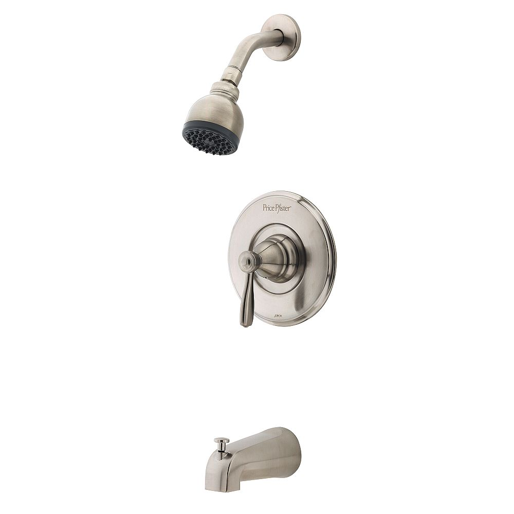 Pfister Portland Single-Handle Bath/Shower Faucet in Brushed Nickel