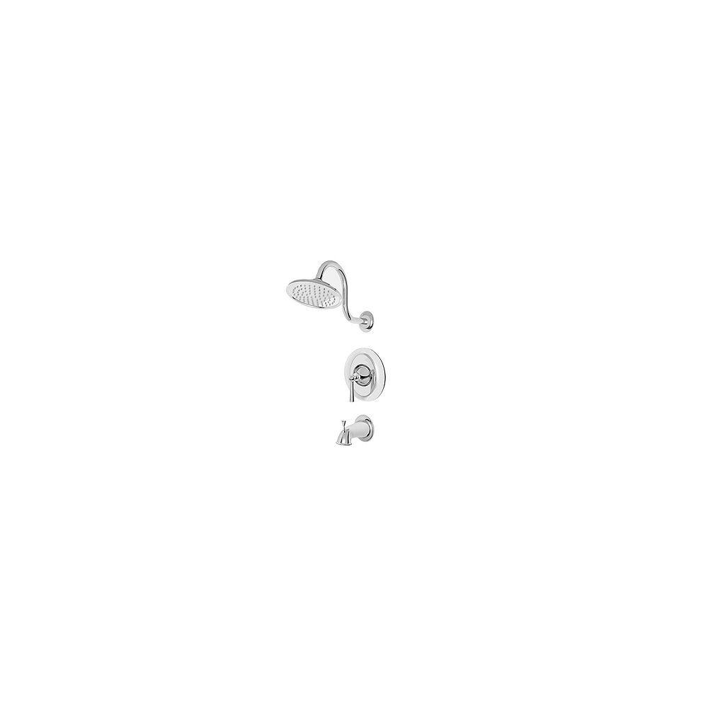 Pfister Saxton 1-Spray Wall-Mount Tub  Shower Faucet in Chrome with Showerhead