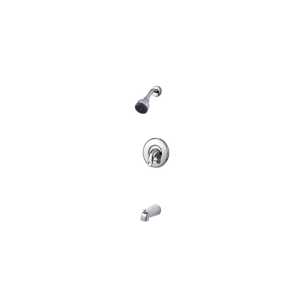 Pfister Serrano 1-Spray Wall-Mount Tub  Shower Faucet in Chrome with Showerhead