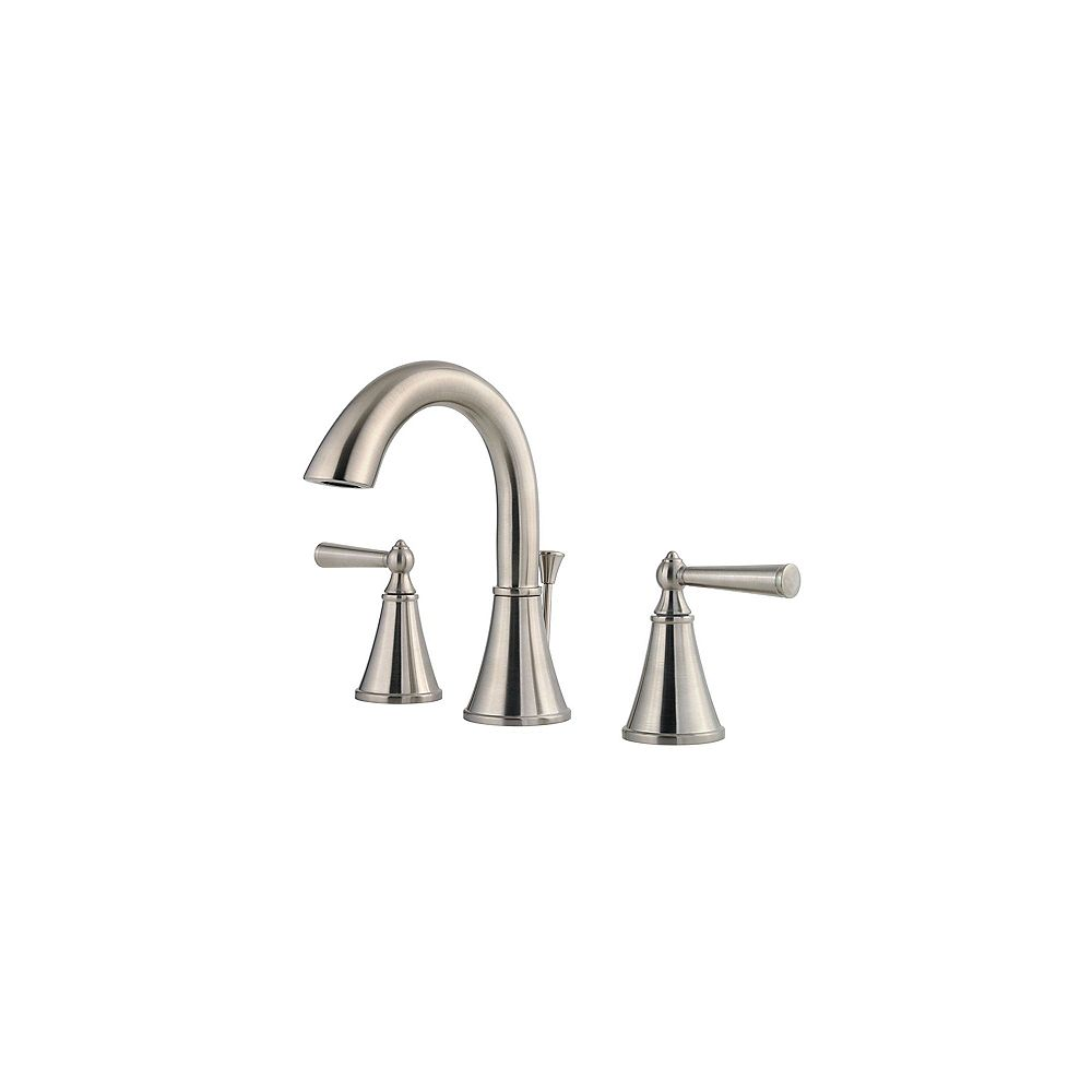 Pfister Saxton 8-inch Widespread 2-Handle High-Arc Bathroom Faucet in Brushed Nickel Finish