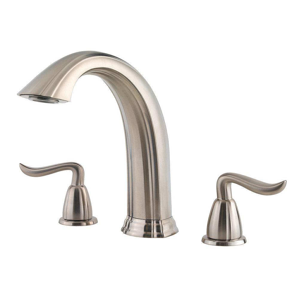 Pfister Santiago 2-Handle Roman Bath Faucet in Brushed Nickel Finish