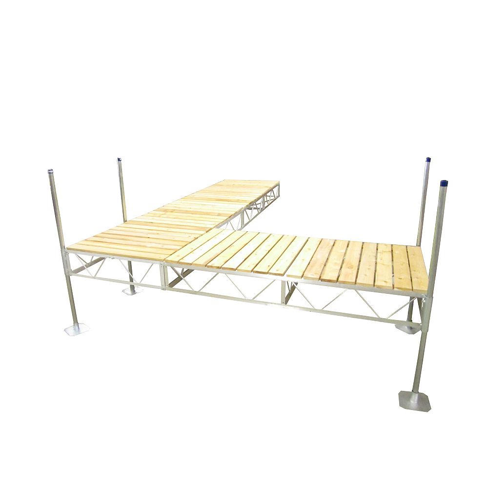 Patriot Docks 40 ft. Lateral Dock with Cedar Decking