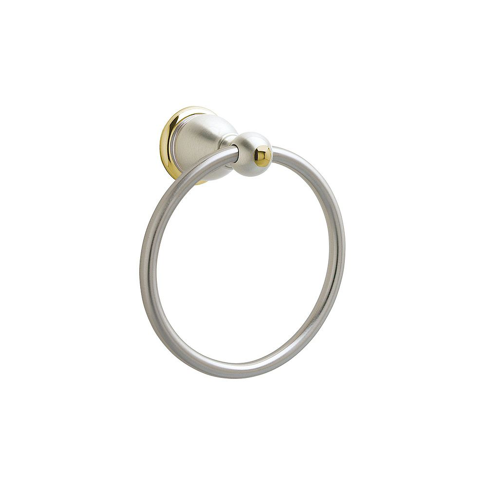 Pfister Conical Towel Ring in Brushed Nickel and Polished Brass