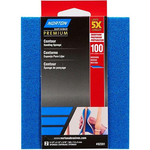 Éponge Contour Premium 5X grain 100 Moyen - Emballage 2