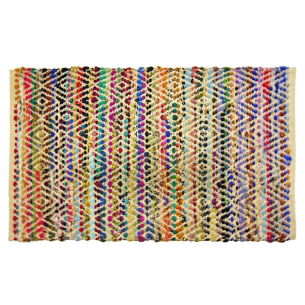 Lanart Rug Carpette d'intérieur, 2 pi x 4 pi, style transitionnel, rectangulaire, multicouleur Lucky