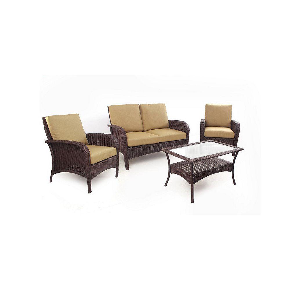 Li & Ming Keywest 4-Piece Conversational Set