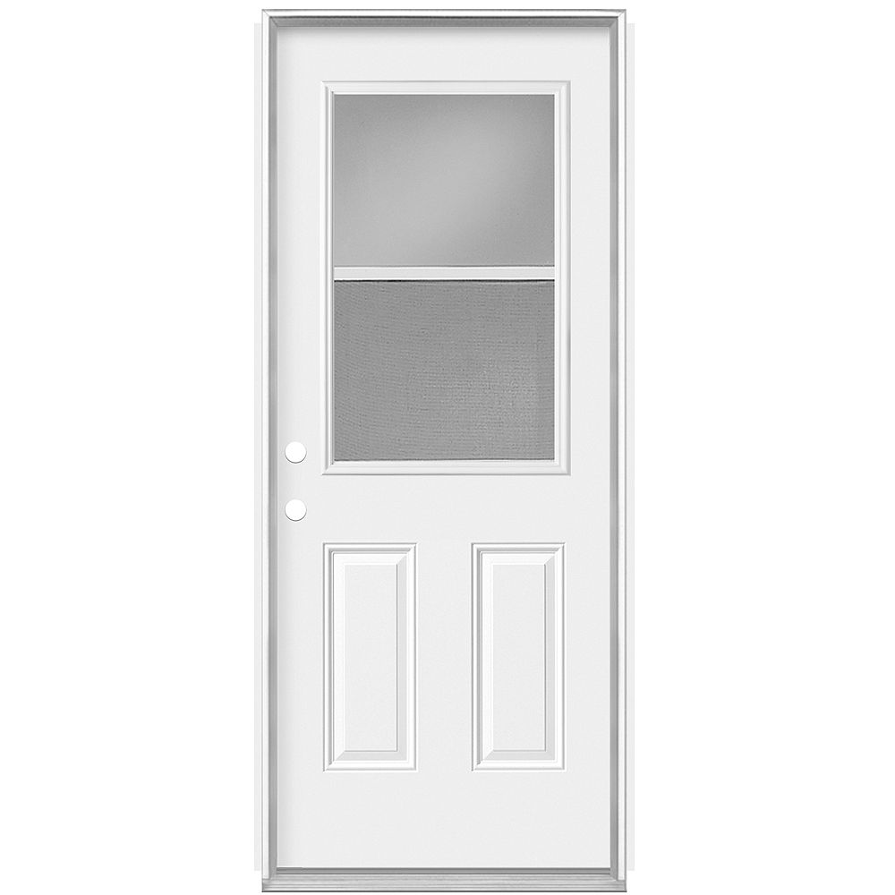 Masonite 30-inch x 80 x 7 1/4-inch Venting 1/2-Lite Low-E Left Hand Door - Energy Star