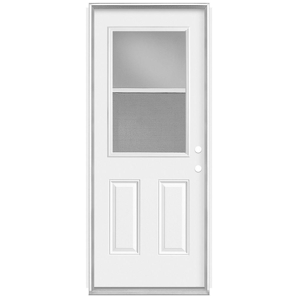 Masonite Porte gauche de 32 pouces x 80 pouces x 7 1/4 pouces avec ventilation 1/2-Lite Low-E - Energy Star