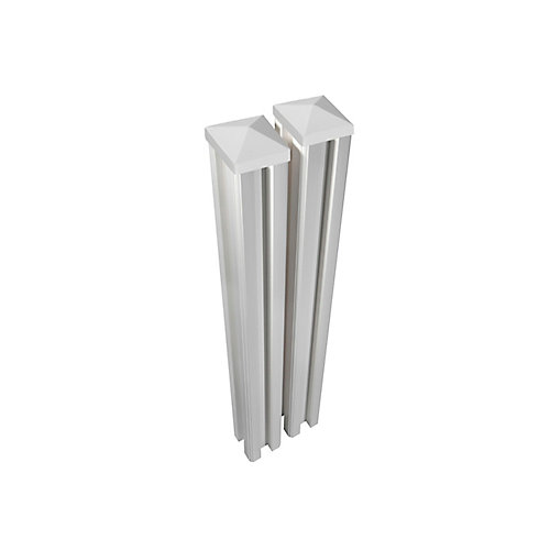 6 ft. x 4.5 inch x 4.5 inch Premium Vinyl Fence Posts with Caps