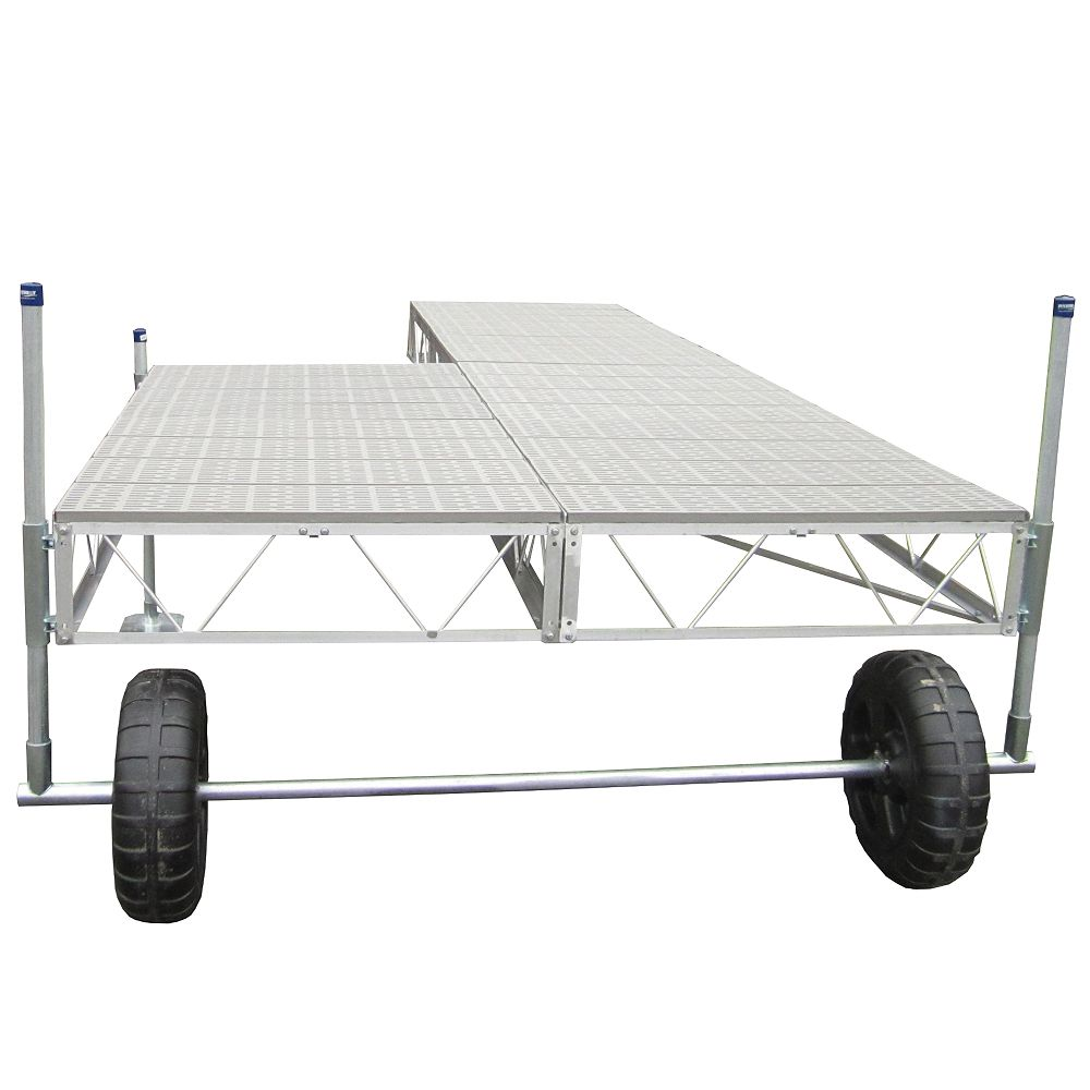 Patriot Docks 32 ft. Patio Roll-in Dock with Poly Decking