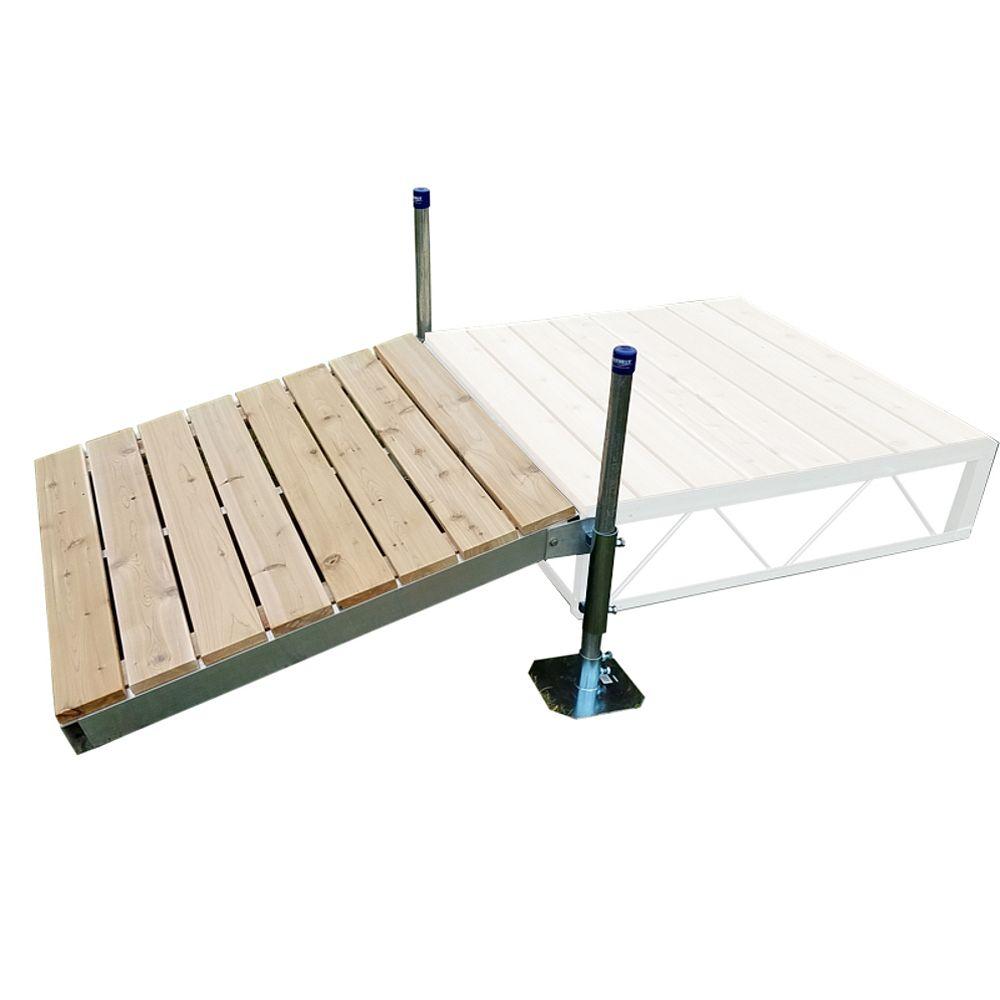 Patriot Docks 4 ft. x 4 ft. Shore Ramp Kit with Cedar Decking