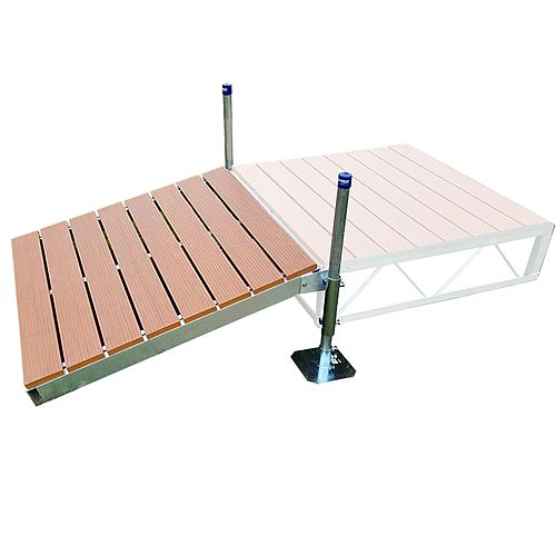 4 ft. x 4 ft. Shore Ramp Kit with Aluminum Deck