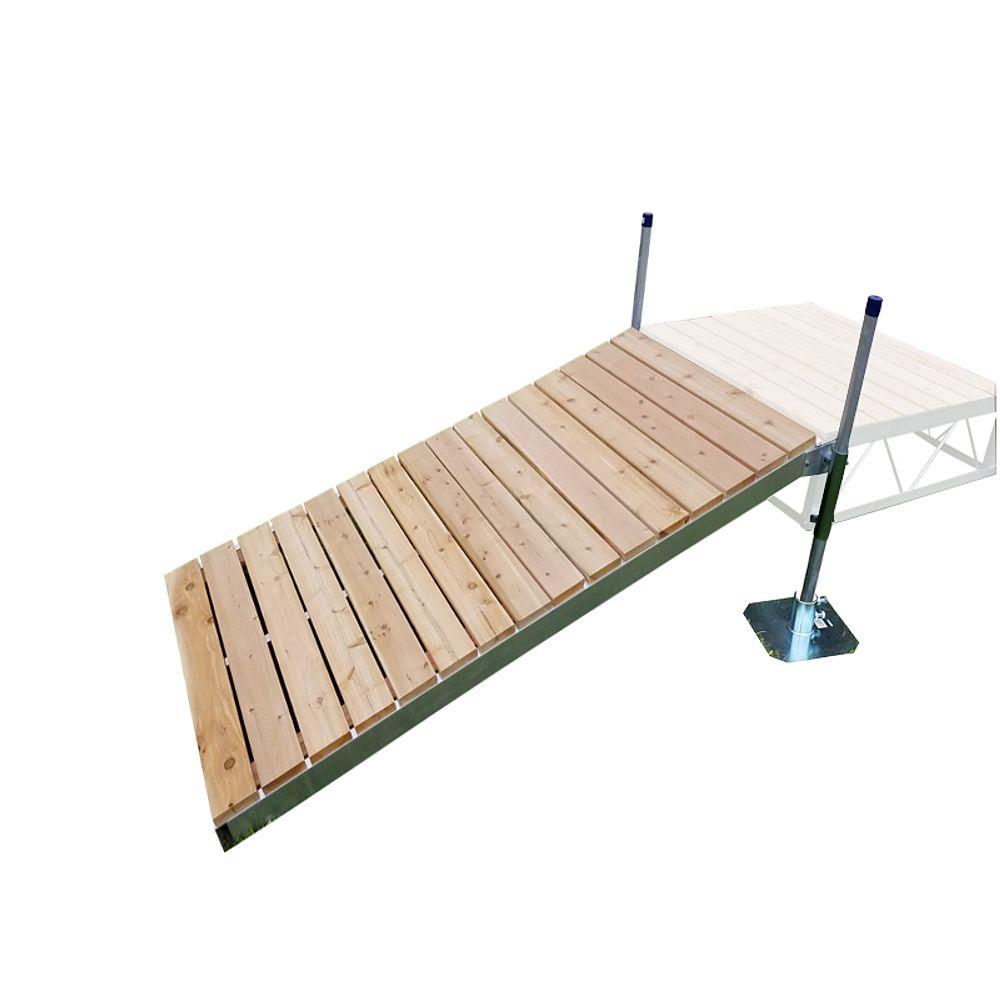 Patriot Docks 4 ft. x 8 ft. Shore Ramp Kit with Cedar Decking