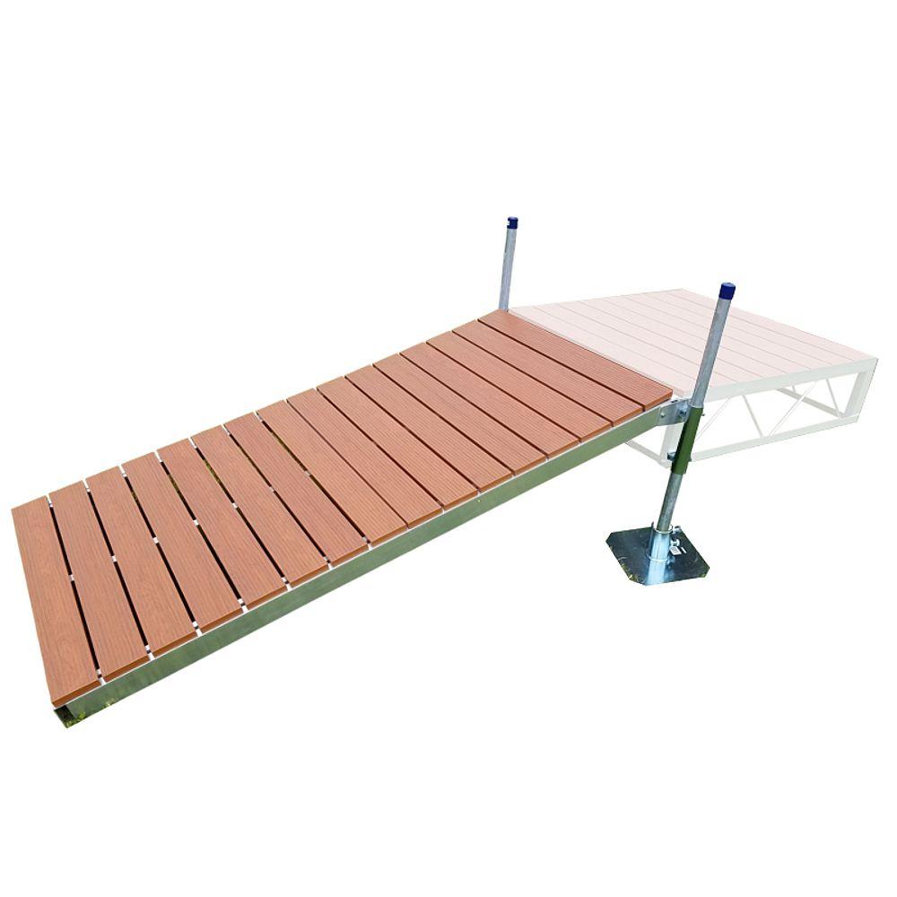 Patriot Docks 4 ft. x 8 ft. Shore Ramp Kit with Aluminum Deck