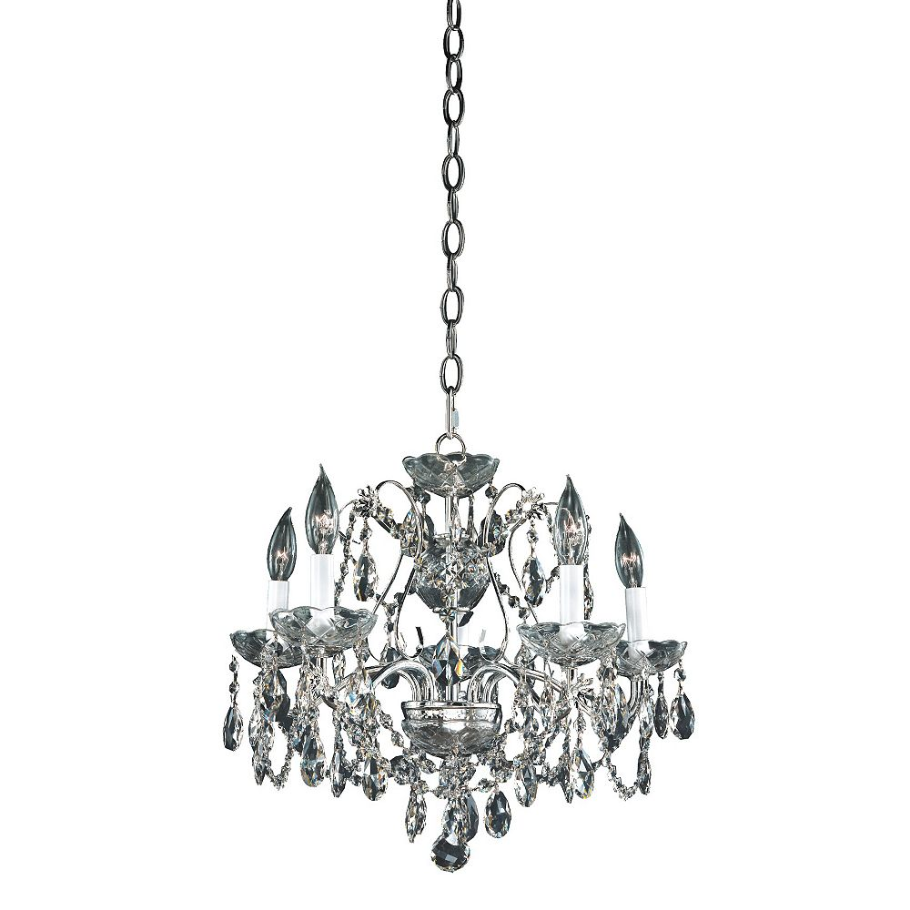 Filament Design Veranda 5-Light Silver Pearl Incandescent Chandelier