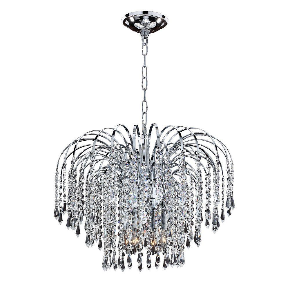 Filament Design Veranda 6-Light Traditional Silver Pearl Incandescent Pendant