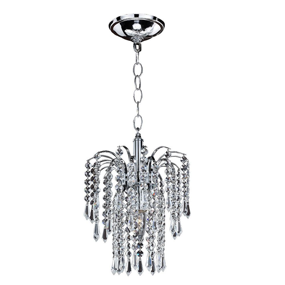 Filament Design Veranda 1-Light Traditional Silver Pearl Incandescent Pendant