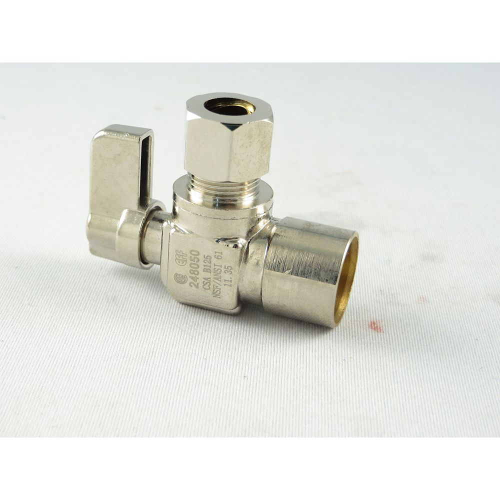 Jag Plumbing Products Sweat x Comp. Angled Mini Valve