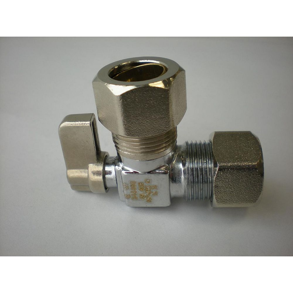 Jag Plumbing Products 5/8-inch OD Comp. x 5/8-inch OD Comp. Angled Mini Valve