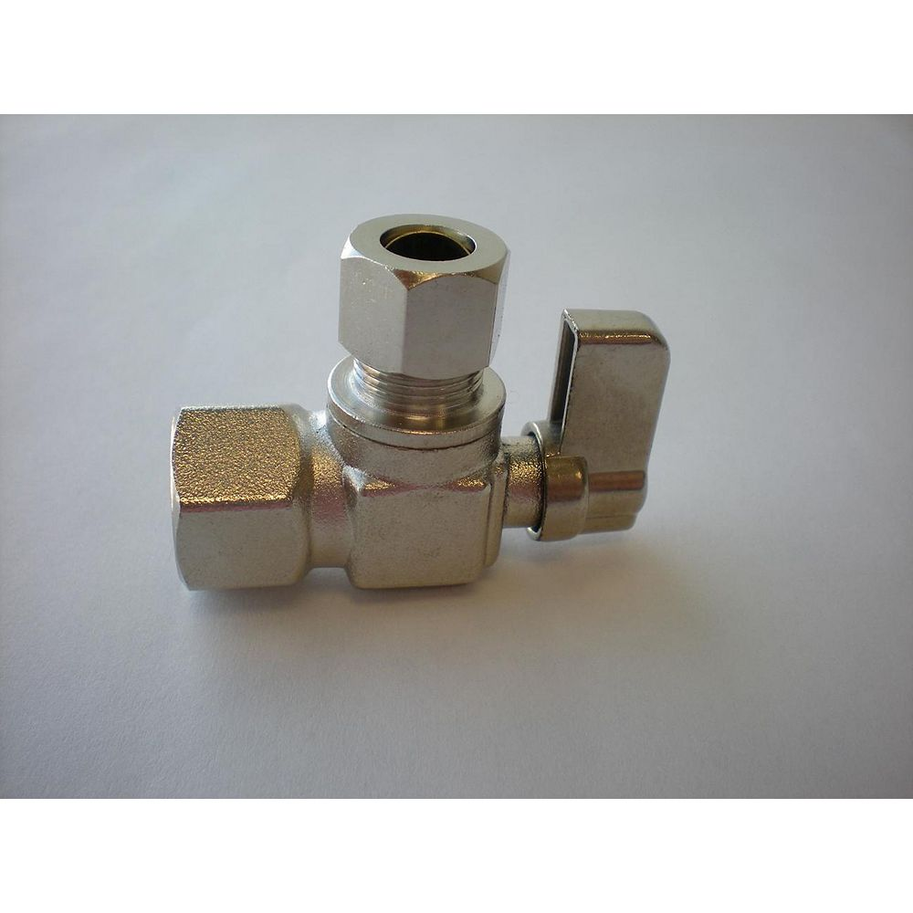 Jag Plumbing Products 3/8-inch IPS x 3/8-inch OD Comp. Angled Mini Valve