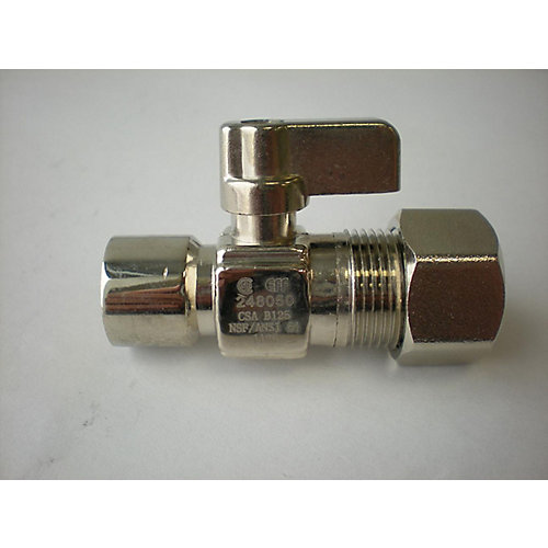 1/2-inch Sweat x 5/8-inch OD Comp. Straight Mini Ball Valve