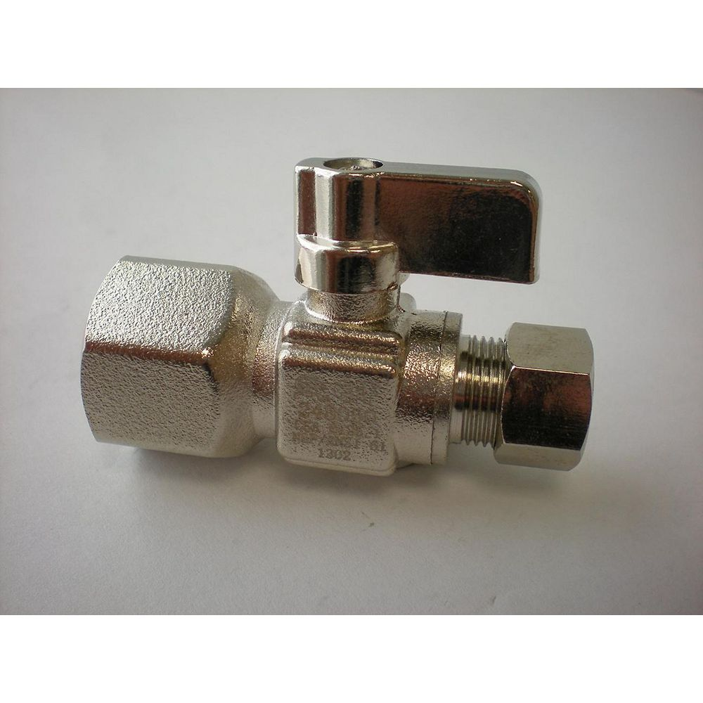 Jag Plumbing Products 3/8-inch IPS x 3/8-inch OD Comp. Straight Mini Ball Valve