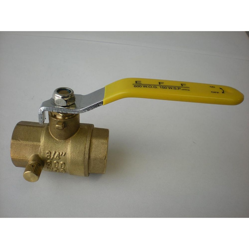 Jag Plumbing Products 3/4-inch NPT Full Port Ball Valve with Drain