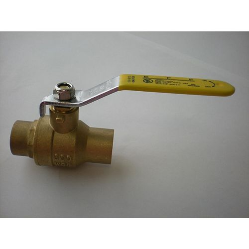 Jag Plumbing Products 1-inch CxC Full Port Forged Ball Valve