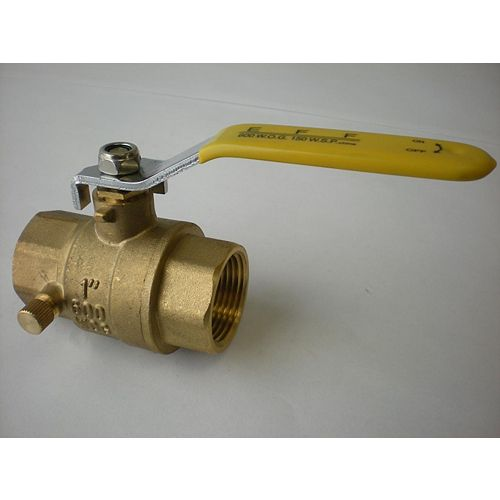 Jag Plumbing Products 1-inch NPT Full Port Ball Valve with Drain