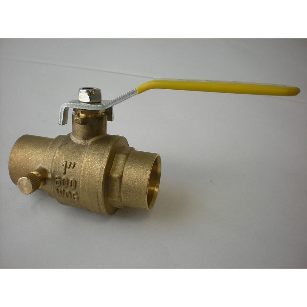 Jag Plumbing Products CxC Full Port Ball Valve with Drain