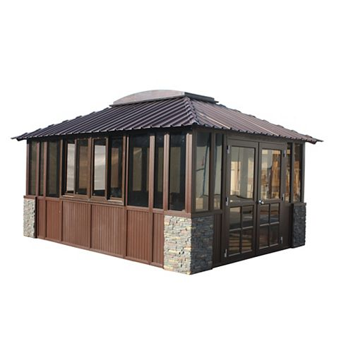 Barbados 12 ft. x 16 ft. Gazebo in Dark Grey