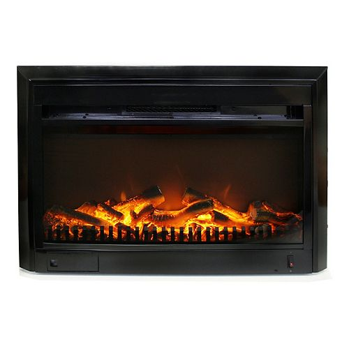 25-inch x 18-inch Electric Fireplace Insert with Gentle-Touch Controls