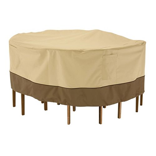 Classic Accessories Veranda Patio Table & Chair Set Cover - Round, Large