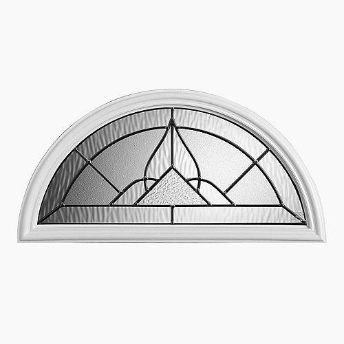 Oxney 22-inch x 10-inch Ant Black Fan Lite Glass Insert