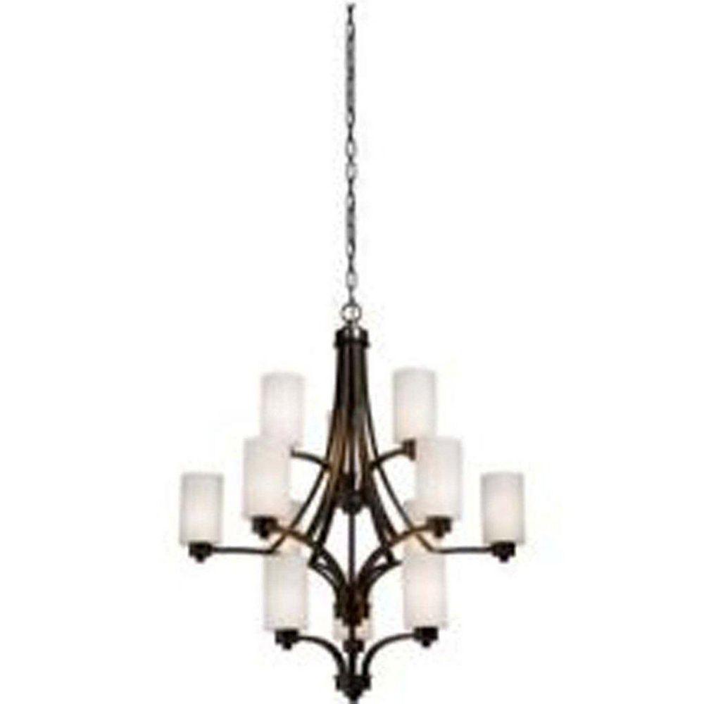 Filament Design 12 Light Ceiling Oiled Bronze Incandescent Chandelier
