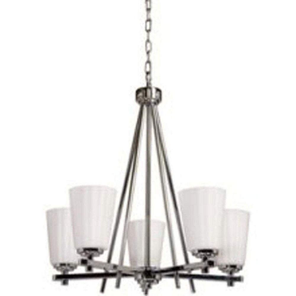 Filament Design 5 Light Ceiling Chrome Incandescent Chandelier