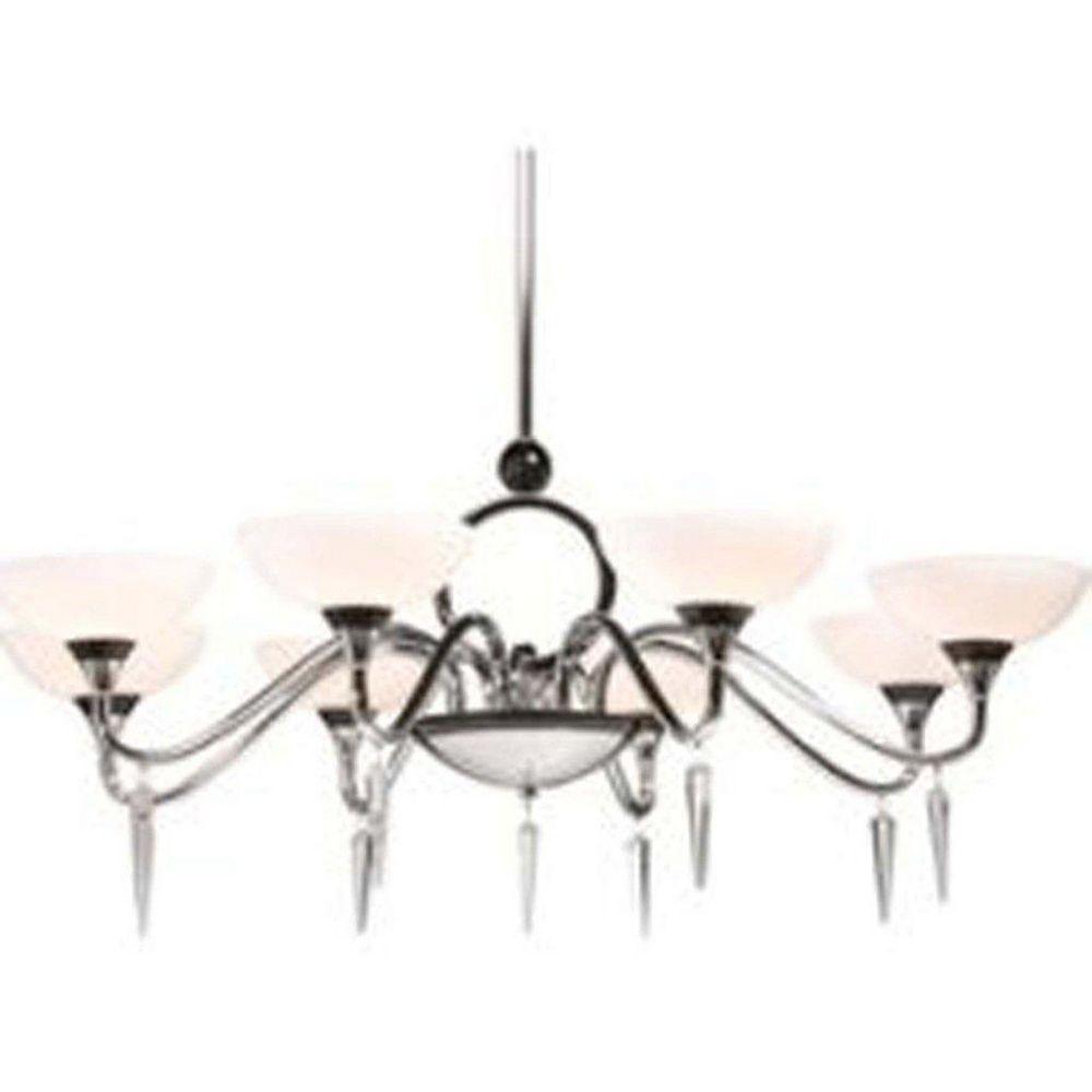 Filament Design 8 Light Ceiling Chrome Halogen Chandelier