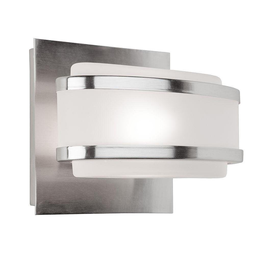 Filament Design 1 Light Wall Brushed Nickel Halogen Bathroom Vanity