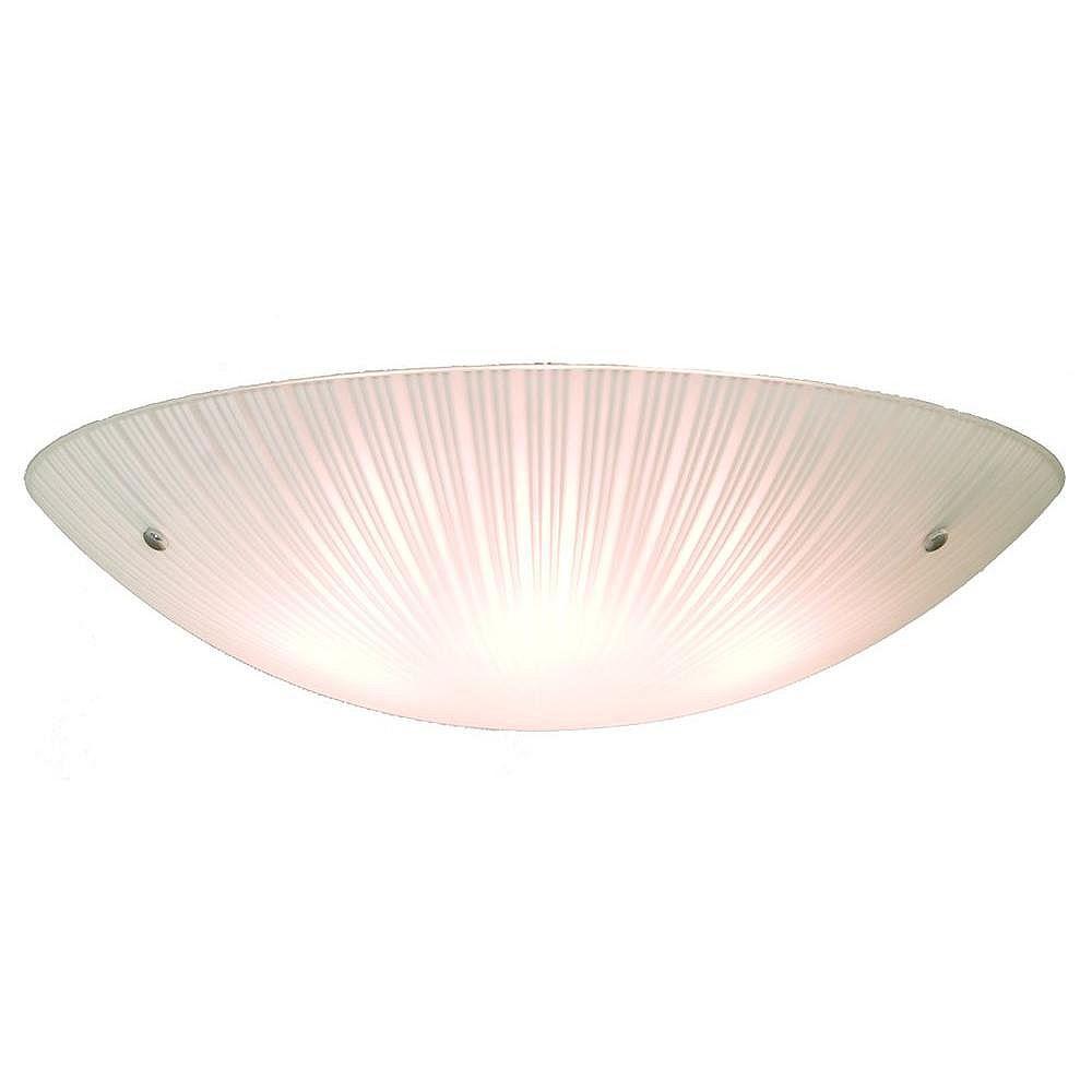 Filament Design 4 Light Ceiling Chrome Incandescent Flush Mount