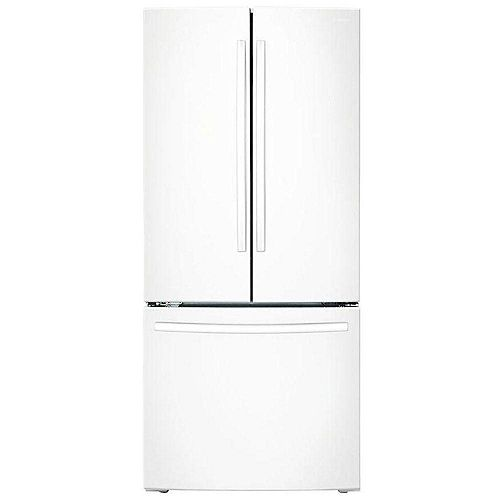 30-inch W 21.6 cu. ft. French Door Refrigerator with Bottom Freezer in White