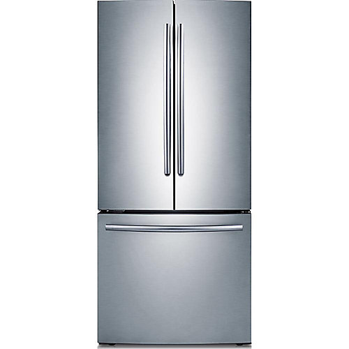 30-inch 21.6 cu. ft. French Door Refrigerator with Bottom Freezer in Stainless Steel
