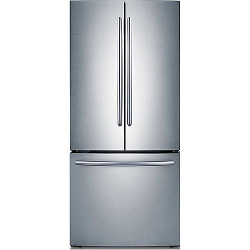 30-inch W 21.6 cu. ft. French Door Refrigerator with Bottom Freezer in Stainless Steel